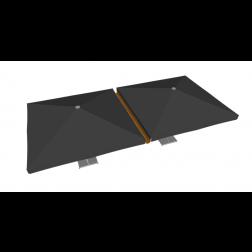 Regengoot PVC 400cm Taupe