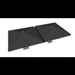 Regengoot PVC 400cm Zwart